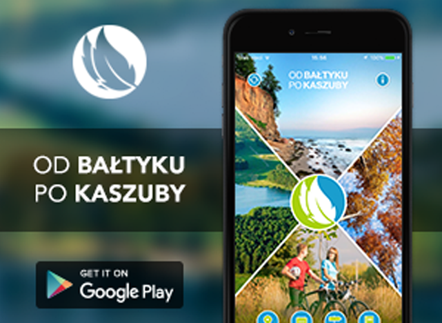 Baner aplikaca od Bałtyku po Kaszuby