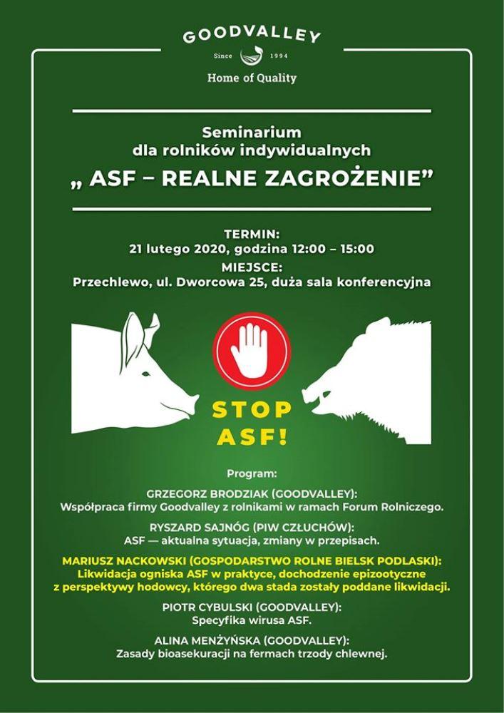 """Seminarium pn. """"ASF - realne zagrożenie"""""""