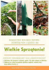 Plakat Wielkiego Sprzątania wBielsku