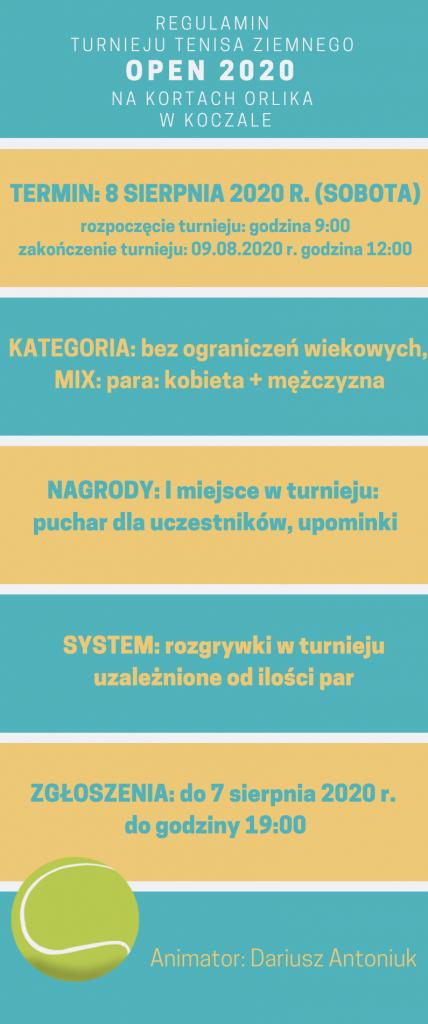 regulamin open 2020