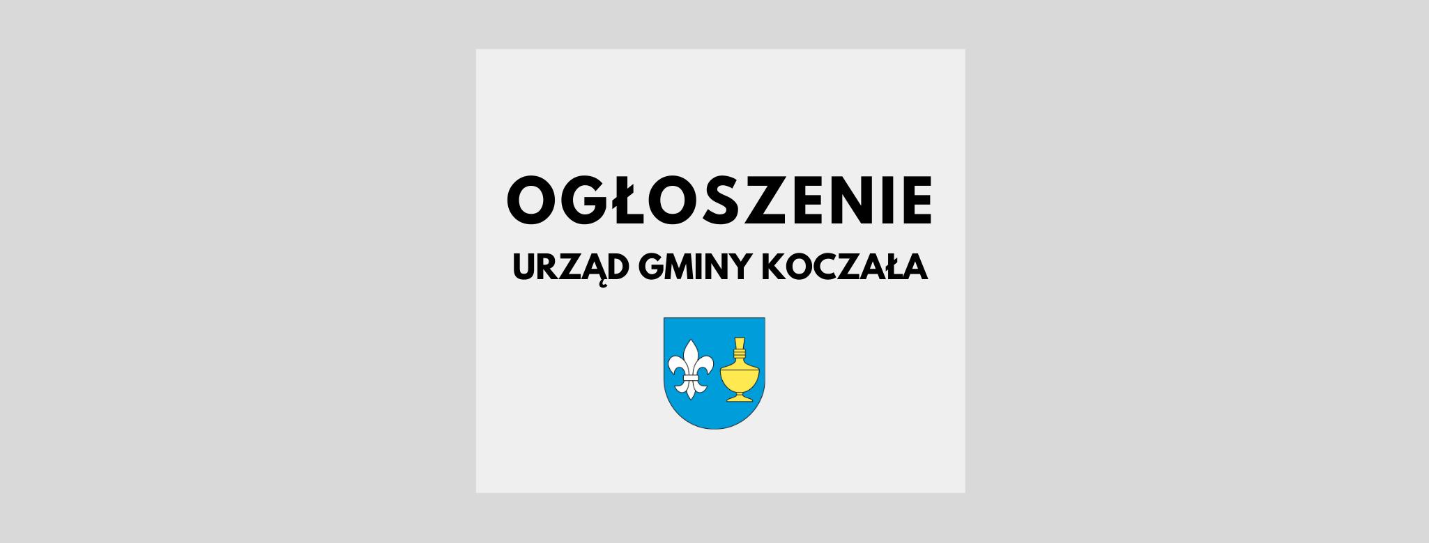 nagłówek graficzny ogłoszenie Urzędu Gminy Koczała