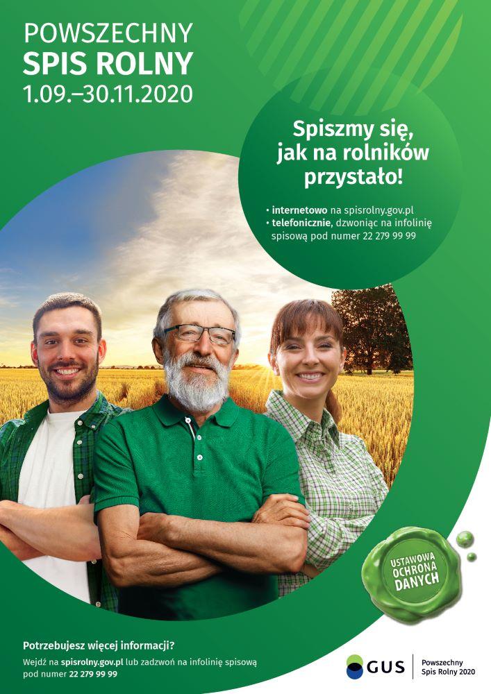 plakat Powszechnego Spisu Rolnego 2020