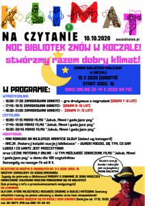 plakat wydarzenia podnazwą: Noc Bibliotek
