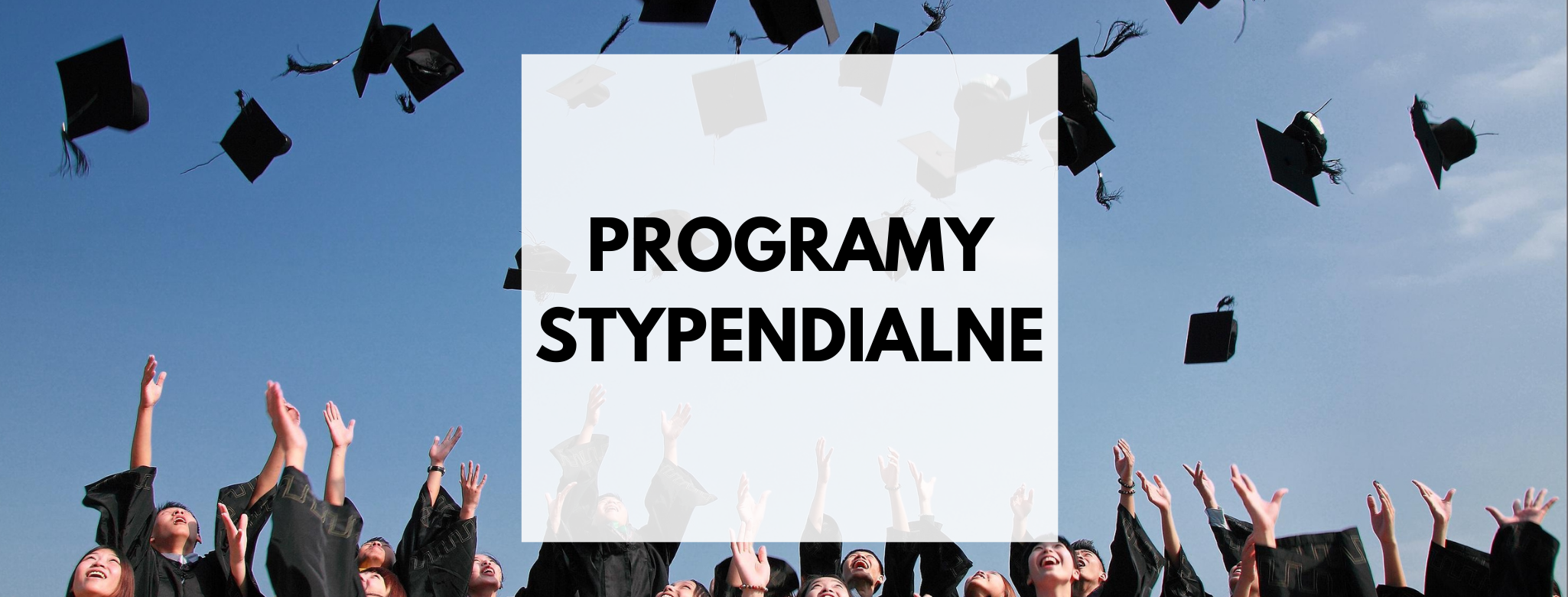 nagłówek graficzny o treści: programy stypendialne