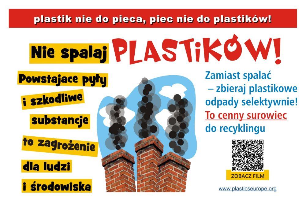 plakat kampanii onazwie: plastik niedopieca, piec niedoplastiku