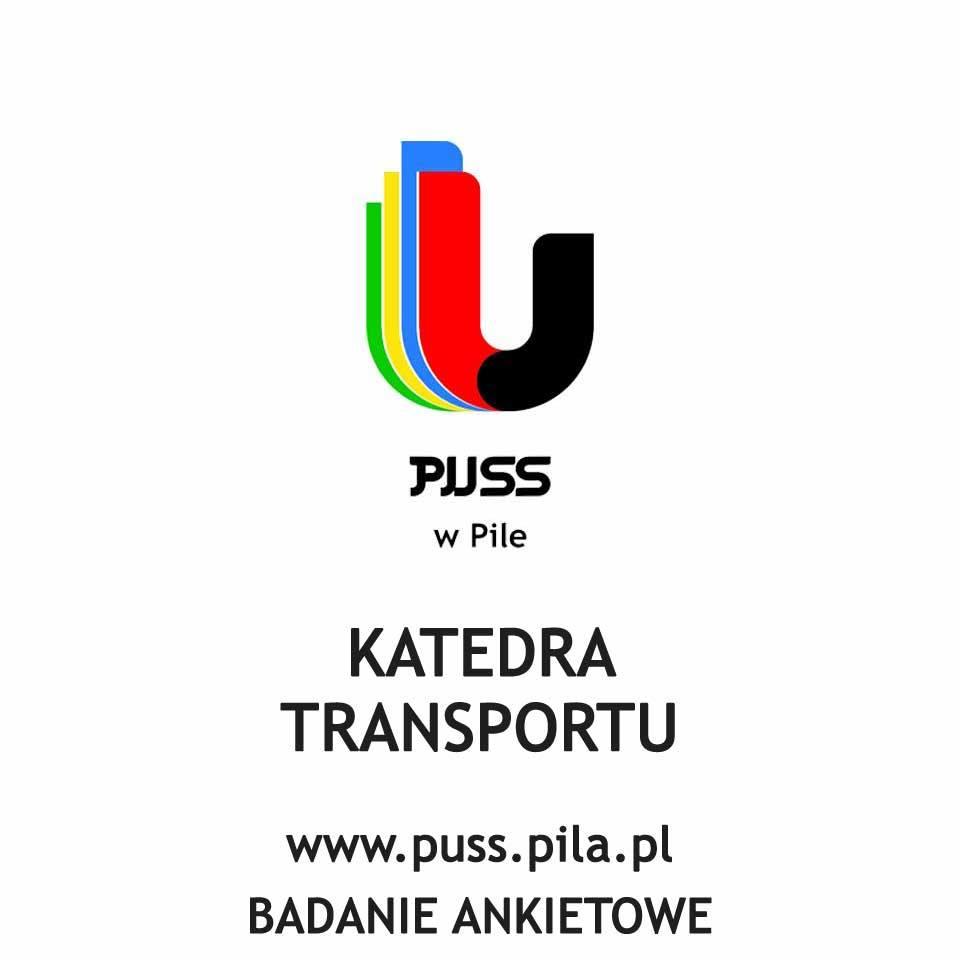 logotyp Państwowej Uczelni Stanisława Staszica wPile, katedra transportu. Treść: www.puss.pila.com Badanie ankietowe.