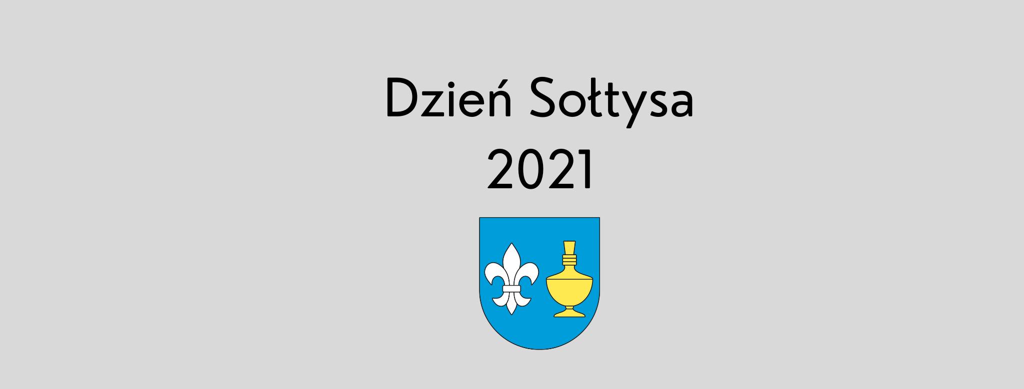 nagłówek graficzny o treści: Dzień Sołtysa 2021, grafika: herb gminy Koczała